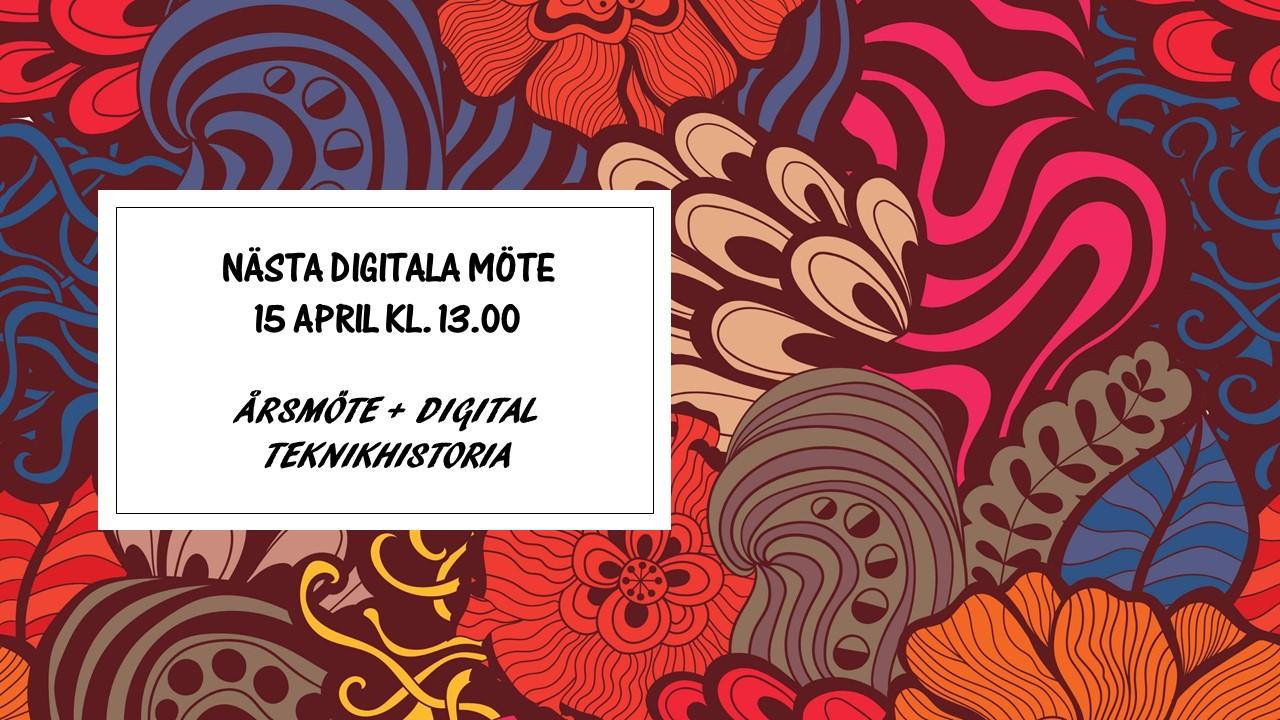 PÅMINNELSE – SeniorNet Huddinge, årsmöte, torsdagen den 15 april kl.13.00.